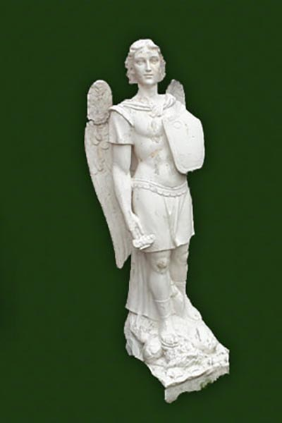 Marble statue St Michael the Archangel.
