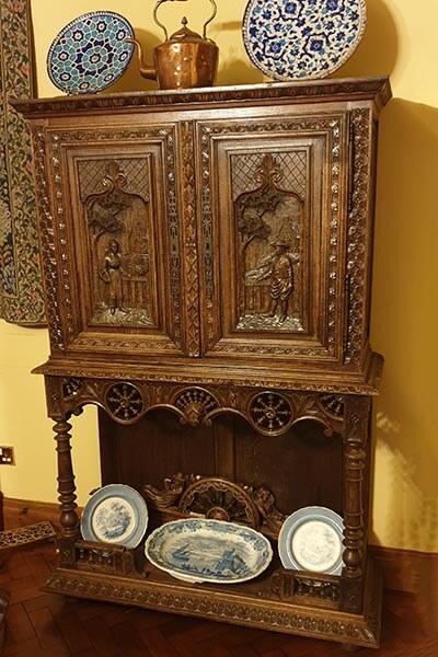 Carved oak cupboard