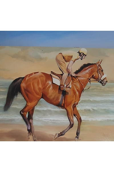 Oil painting RED RUM. Lot 10
