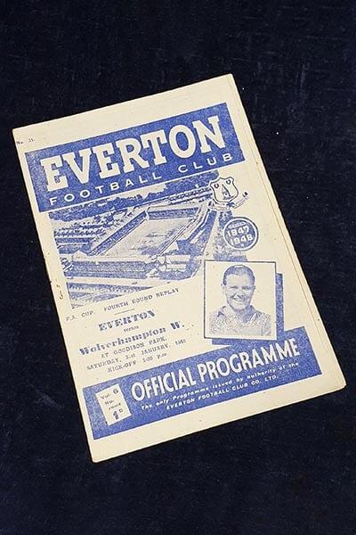 Football memorabilia football program.