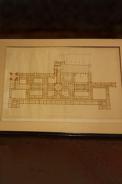 Plan of Palace of Westminster.
